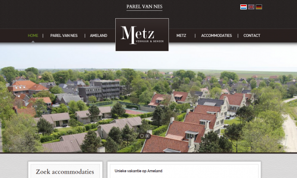 professionele website Parel van Nes