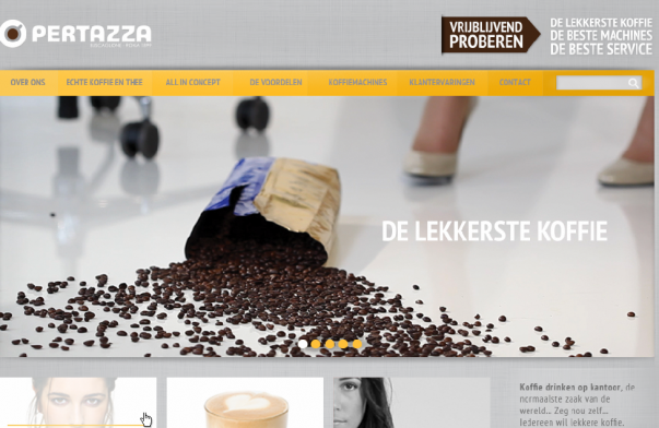 professionele website pertazza