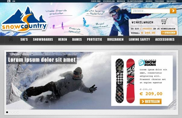 Professionele webshop Snowcountry