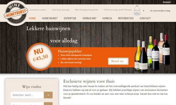 Professionele webshop Honeyburst Wine Company